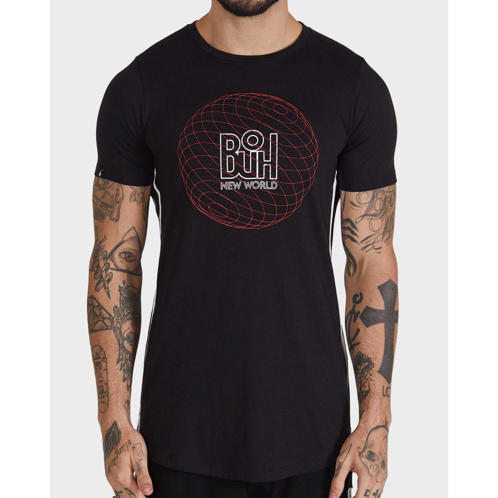 Camiseta Buh Round World Black