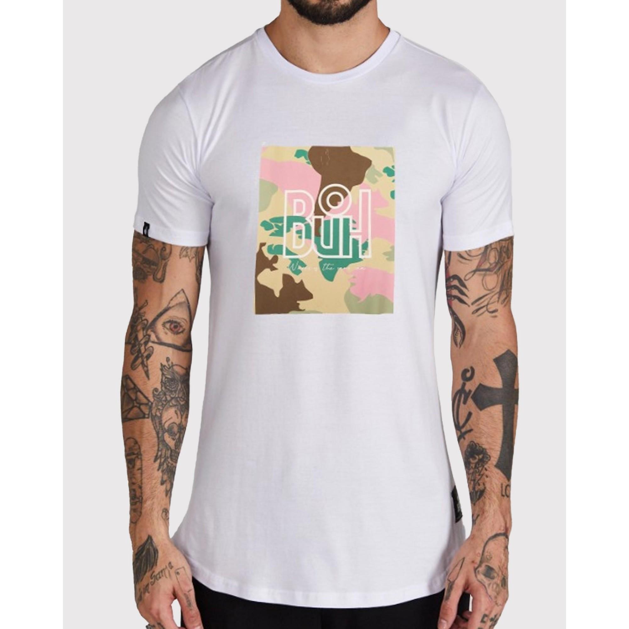 Camiseta Buh Square Map White