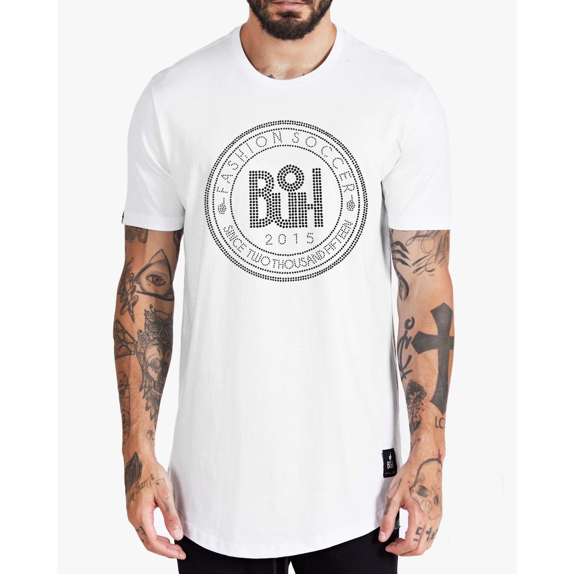 Camiseta Buh Strass Penta White
