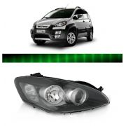 Farol Fiat Idea 2010 2011 2012 2013 Fume