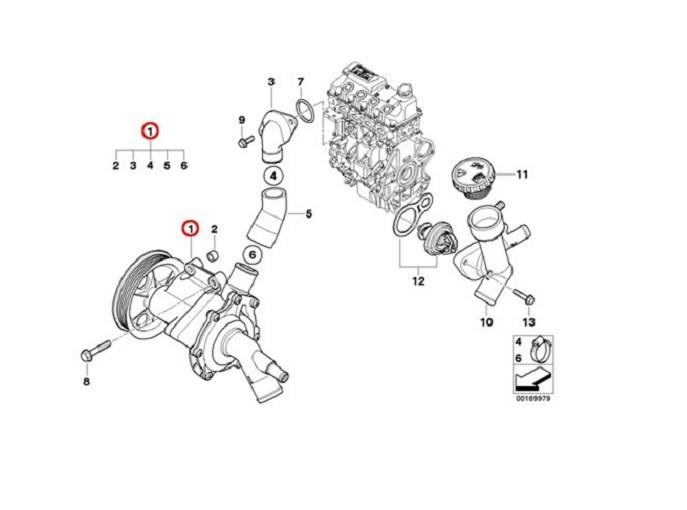 Bomba Dagua Fiat Doblo Grand Siena 1.6 / 1.8 16v E-torq Flex