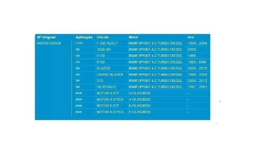 Bomba Dagua Silverado Grand Brazer 4.2 Turbo Mwm Sprint