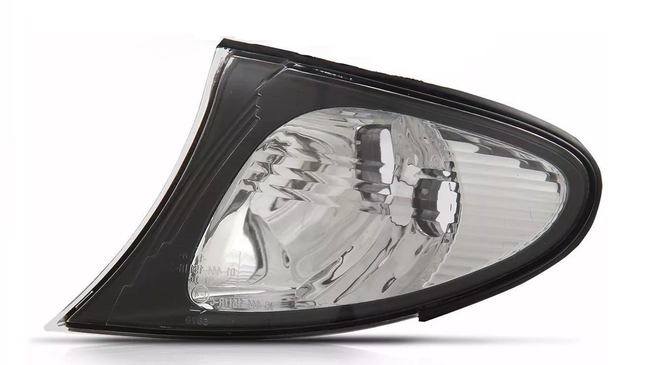 Lanterna Dianteira Cristal Borda Preta Bmw S3 02 03 04 05