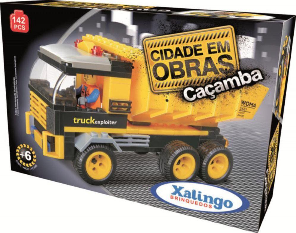 LEGO XALINGO CIDADE EM OBRAS CAÇAMBA 142 PEÇAS
