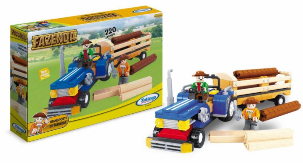 LEGO XALINGO FAZENDA TRANSPORTADORA DE MADEIRA 220 PEÇAS