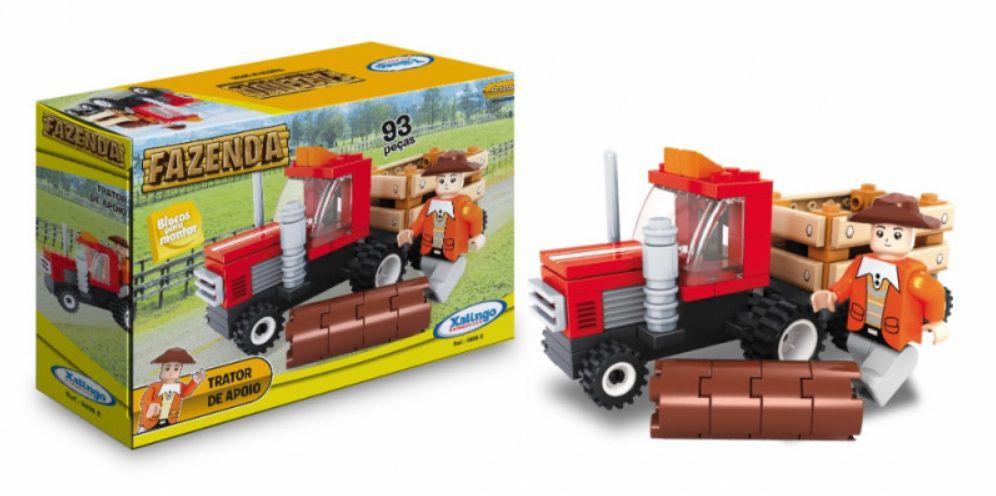 LEGO XALINGO FAZENDA TRATOR DE APOIO 93 PEÇAS