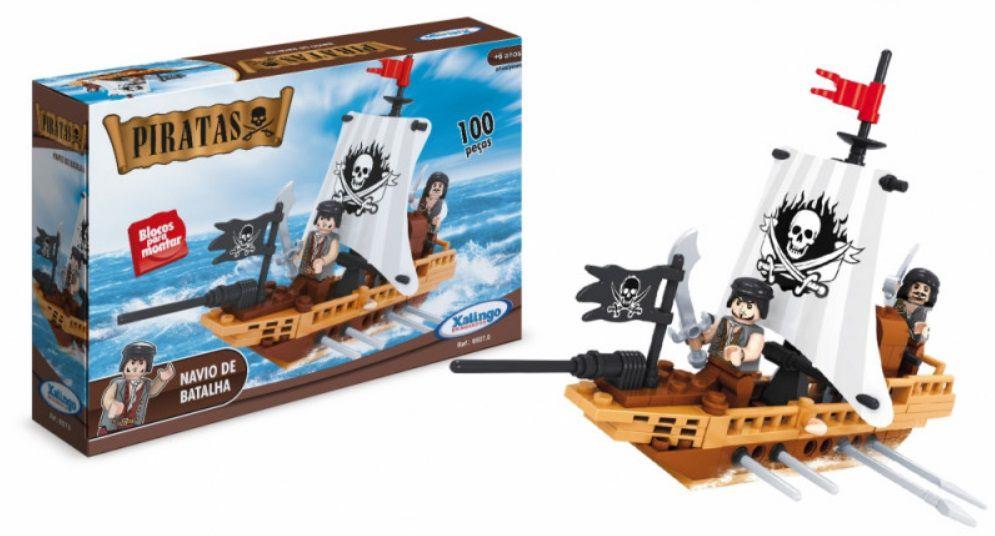 LEGO XALINGO PIRATAS NAVIO DE BATALHA 100 PEÇAS