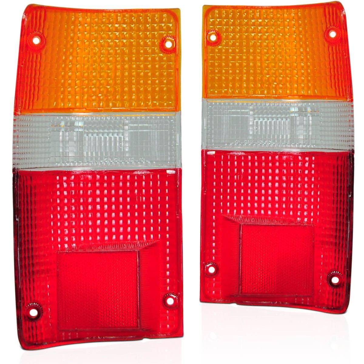 Lente Lanterna Traseira Hilux 92-00 Sr5 Tricolor 4x4 E 4x2