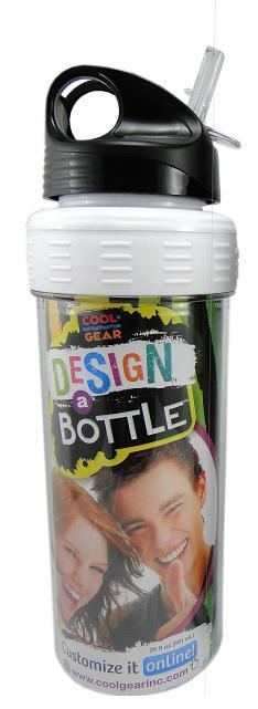 Garrafa Cool Gear Design a Bottle Branca