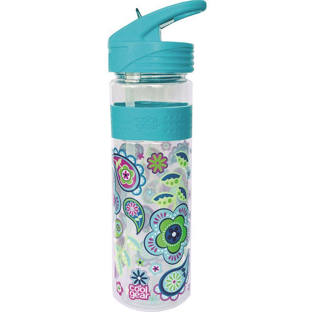 Garrafa Cool Gear Flores Verde Agua