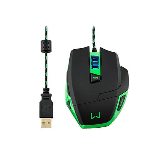 Mouse Gamer USB MO245 3200DPI Macro Warrior