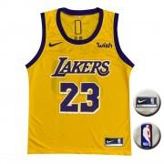 Camisa Regata Lakers Amarela