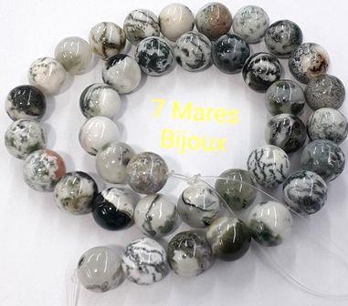Pedra Agata Musgo 10mm