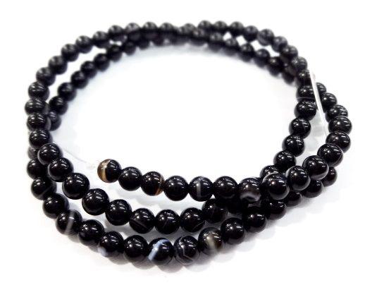 Pedra Agata Negra 4mm
