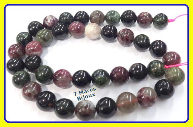 Pedra Turmalina multicolor 10mm