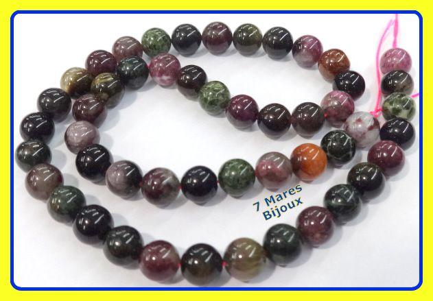 Pedra Turmalina Multicolor 8mm
