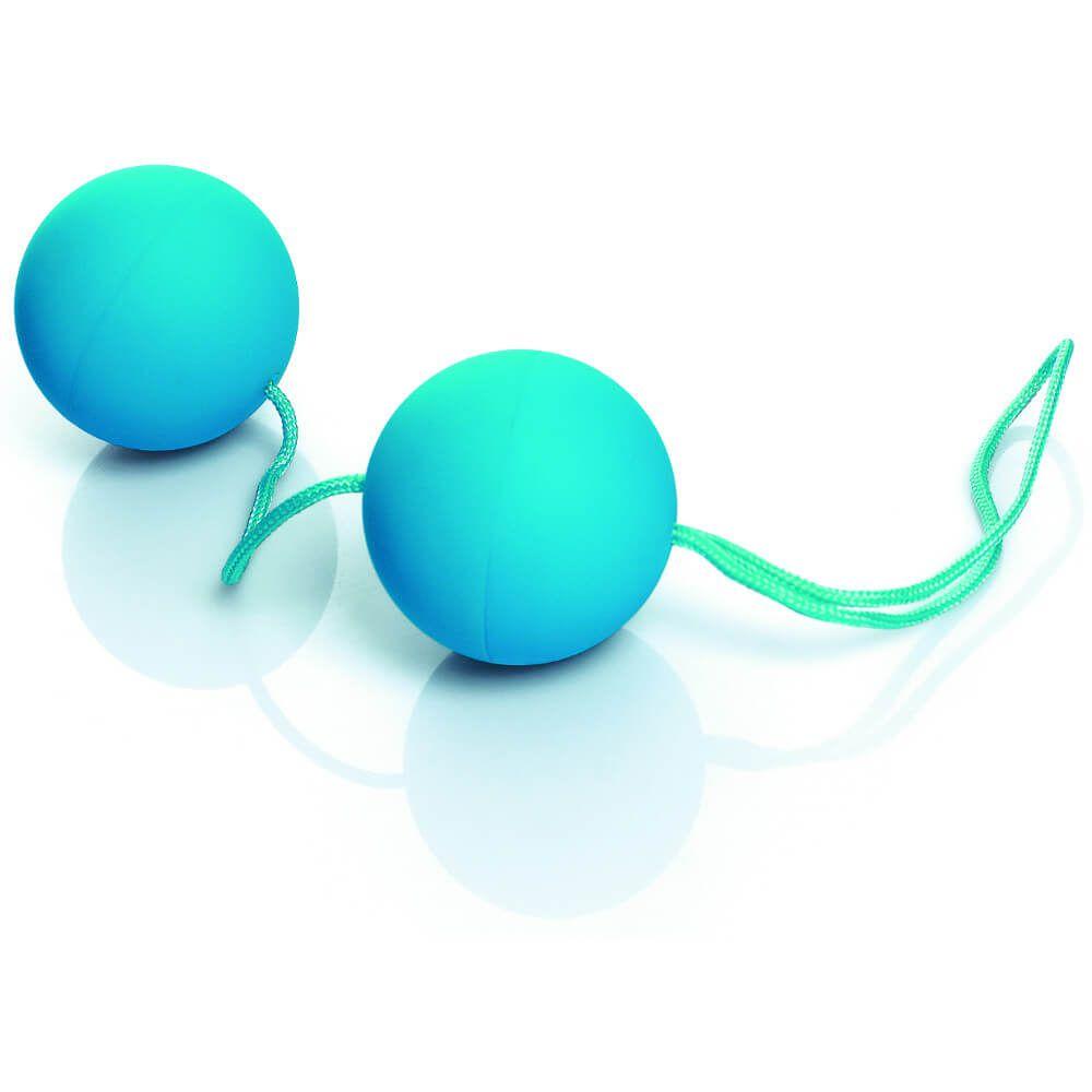 Ben-Wa - Bolinhas para Exercícios Vaginais - em Soft Touch - Cor Azul