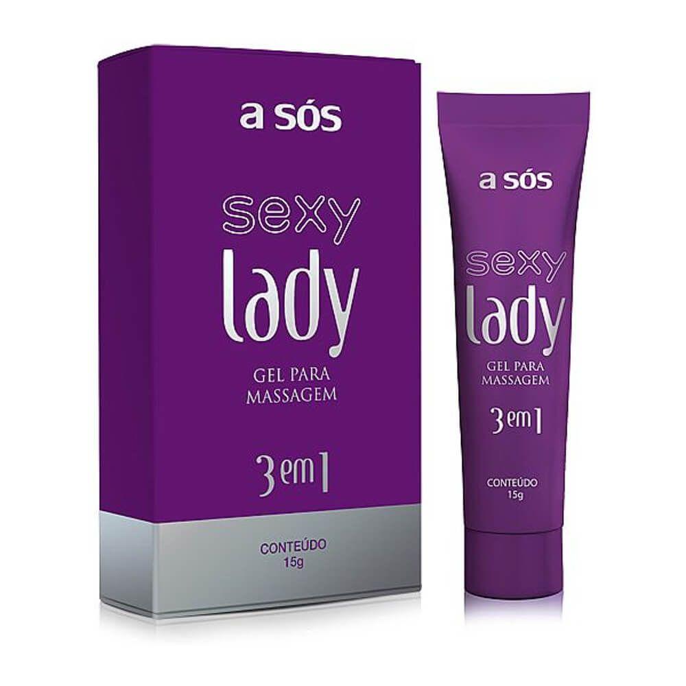 Gel Excitante Adstringente e Lubrificante SEXY LADY 3 em 1
