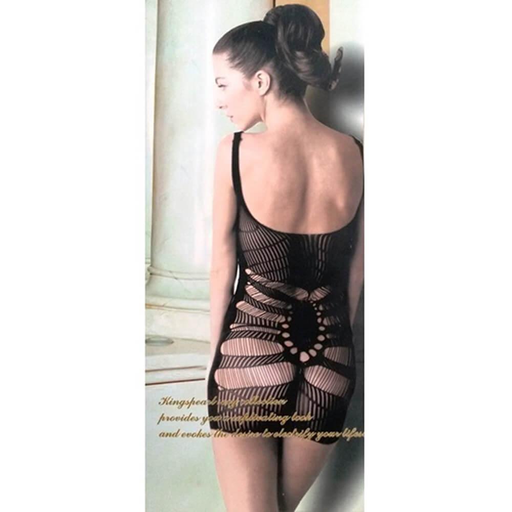 Mini Vestido sem Costura - KingsPearl - Cor Preto