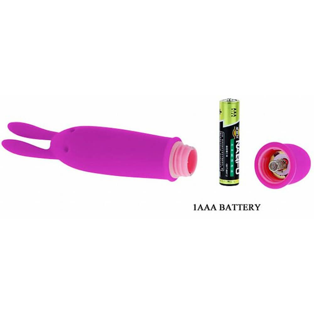 Mini Vibrador em Silicone com Estimulador Rabbit 10 Níveis de Vibração - Pretty Love Boyce