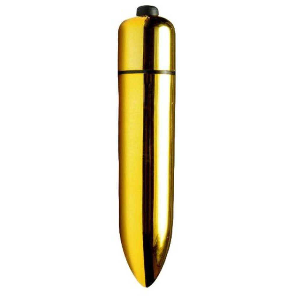 Mini Vibrador - Power Bullet - Cor Dourado