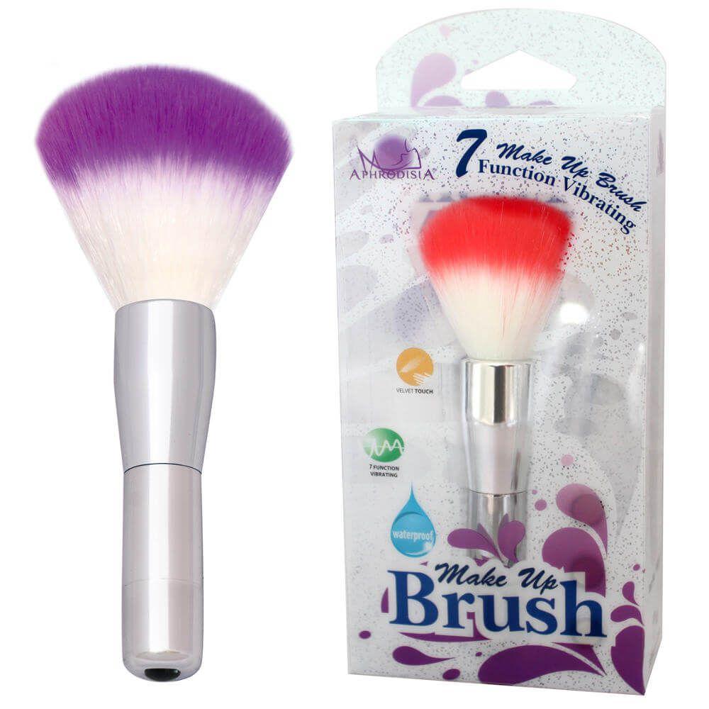Vibrador em Formato de Pincel para Make Multivelocidade - Make Up Brush - Cor Roxo