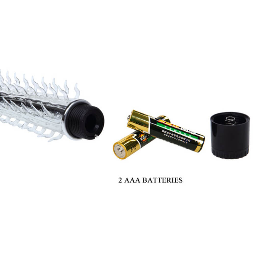 Vibrador Personal com Capa de Silicone e Textura Massageadora - 19,5 x 2,1 cm