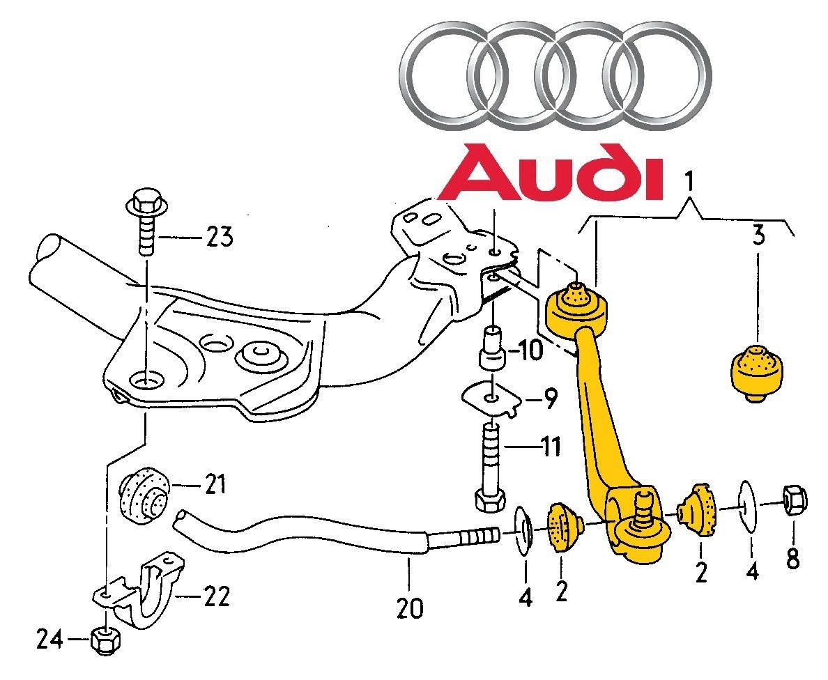 Kit 2 Braço Oscilante Audi A6 2.8 V6 95 96 97
