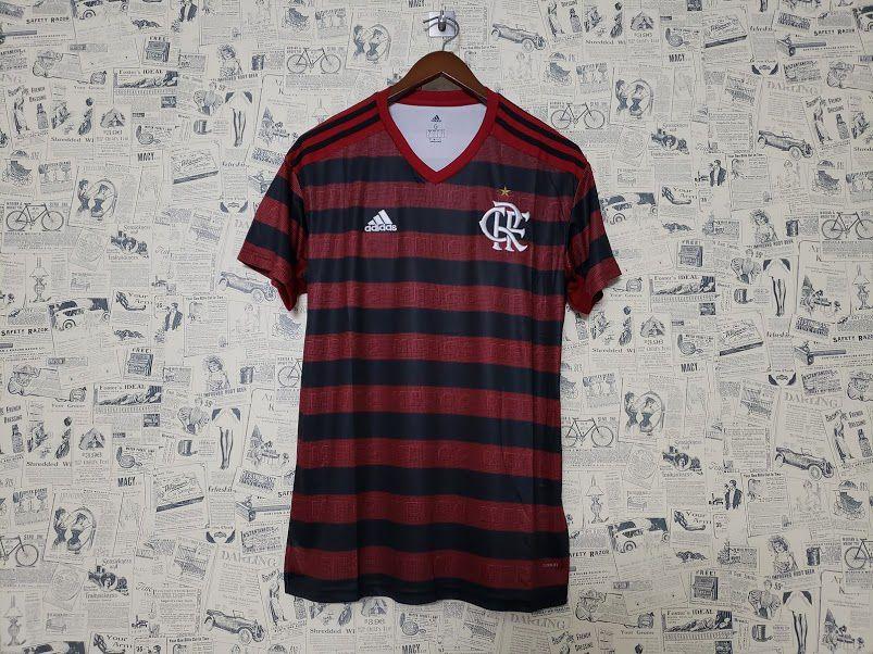 591ef0ee06 Camisa Flamengo I 19/20 s/n° Torcedor Adidas Masculina - Vermelho e ...