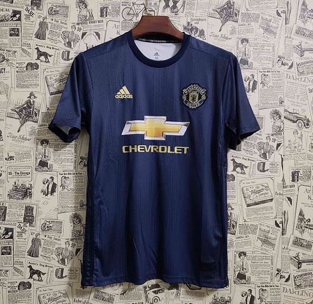 472b81a3 Camisa Manchester United Third 2018 s/n° - Torcedor Adidas Masculina - Azul