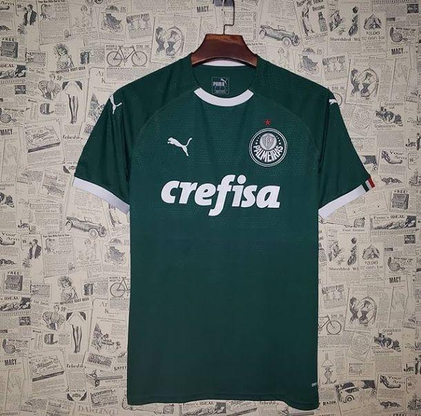 9a807982e18d1 Camisa Palmeiras I 19/20 s/n° - Torcedor Puma Masculina - Verde - AF ...