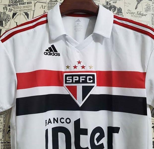 3b6f016b47 ... Camisa São Paulo I 2018 s/n° Torcedor Adidas Masculina - Branco e  Vermelho ...