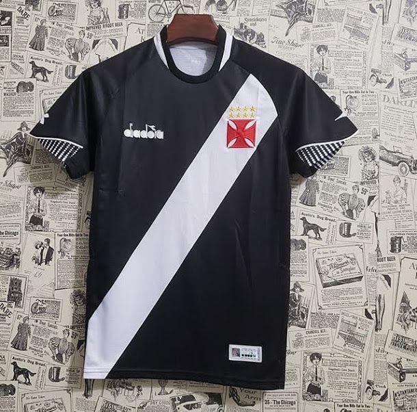 8e3c313061 Camisa Vasco I 2018 s/n° - Torcedor Diadora Masculina - Preto - AF ...