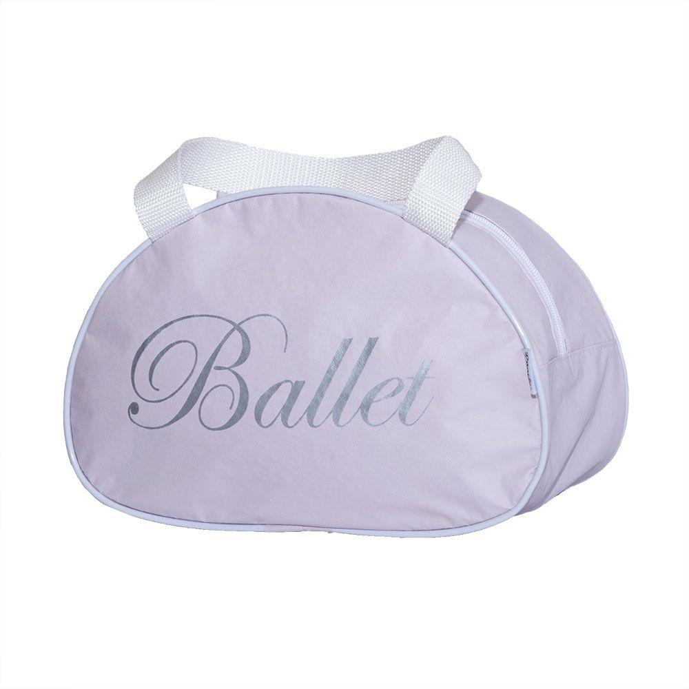 Bolsa Meia Lua Pequena com estampa BALLET em silk - Korino