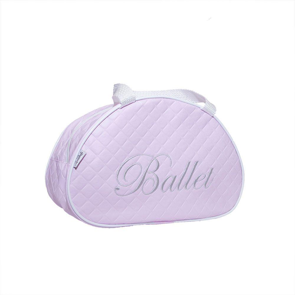 Bolsa Meia Lua Pequena com estampa bordada BALLET - Matelassê