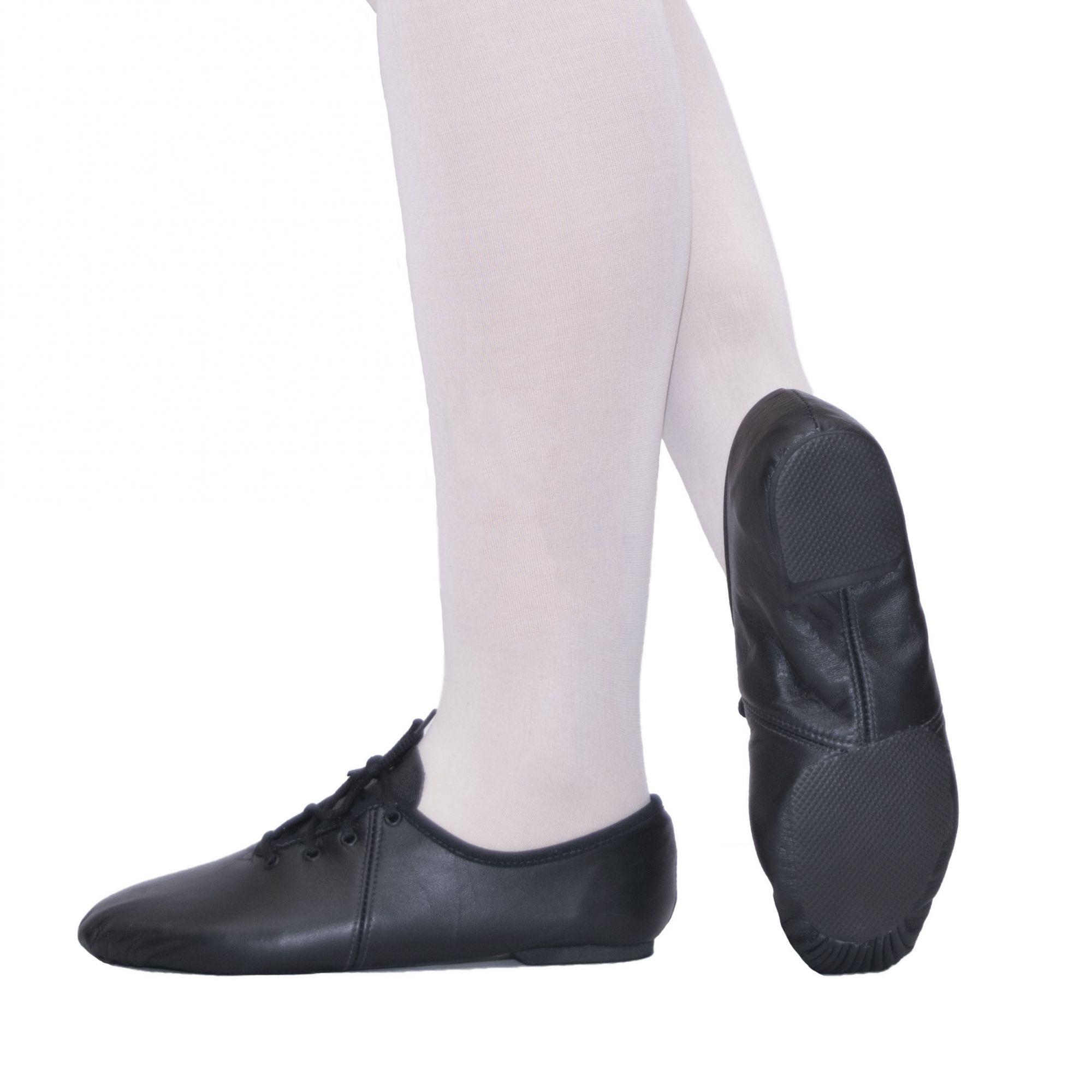 Sapato Jazz com cadarço - Couro