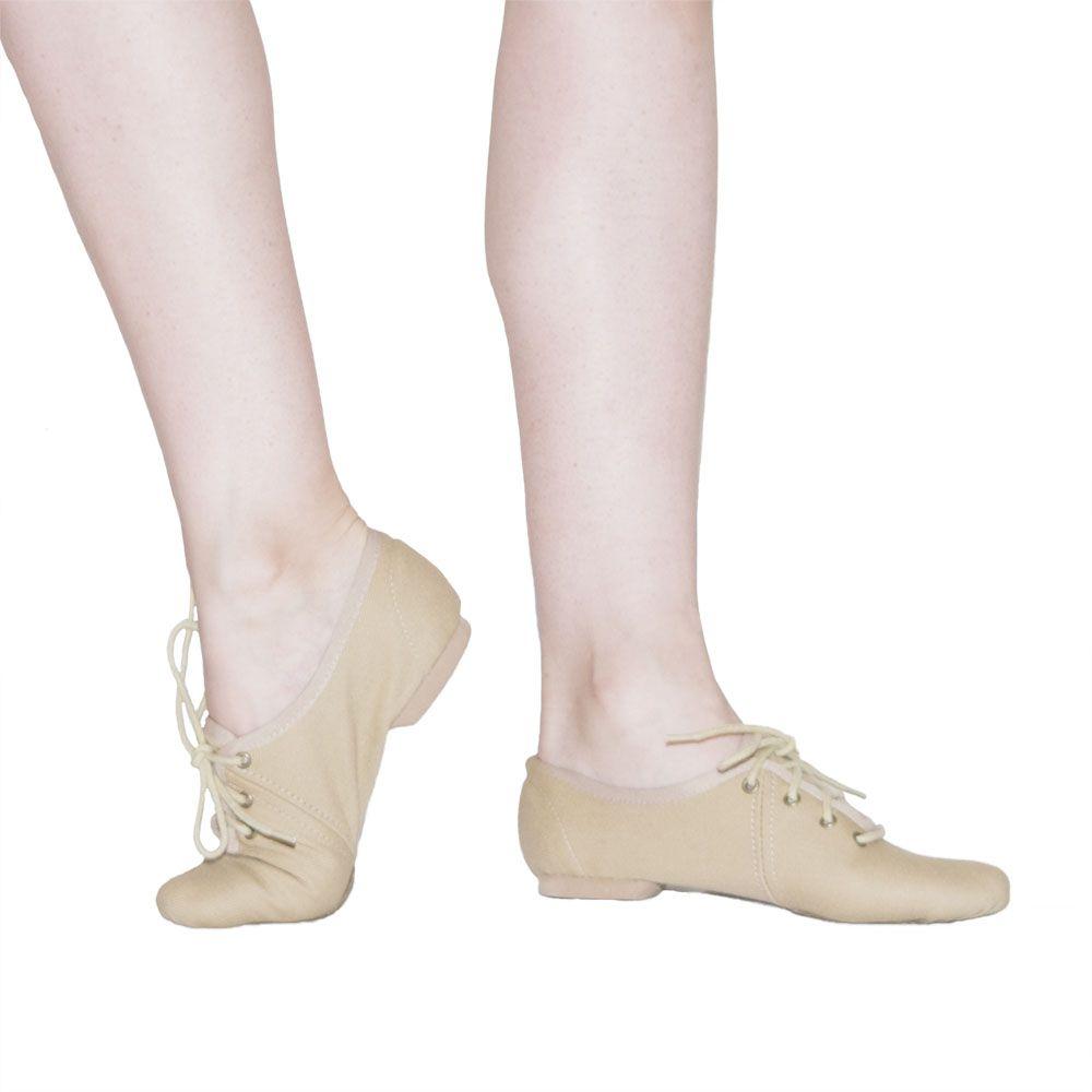 Sapato Jazz com cadarço - Lona