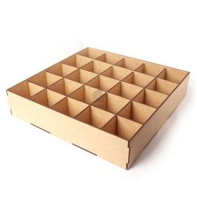 Caixa 30x30cm Organizadora com divisorias Artenato mdf - Yper Criativo