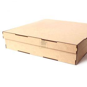 kit 3 Caixas 30x30cm Organizadora com divisorias Artesanato mdf