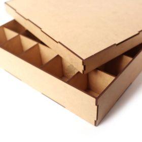 Caixa 30x30cm Organizadora com divisorias Artesanato mdf
