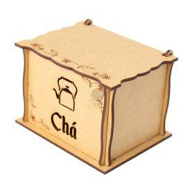 Caixa de Chá personalizada com Gravação a Laser em MDF - Yper Criativo