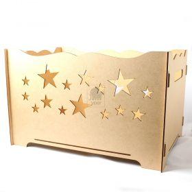 Caixa Porta Presentes para Decoração Festas Estrelas - MDF Provençal - Yper Criativo
