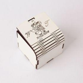 Caixinha Noivos para Lembrancinha Casamento - Tampa Dobrável com Trava - Corte e Gravação a Laser - MDF Branco 3mm -  Yper Criativo