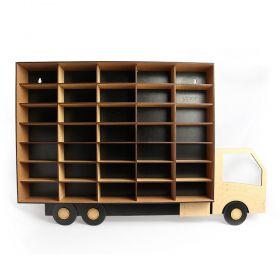 Caminhão Porta Carrinhos Hot Wheels 35 Div Mdf - Yper Criativo