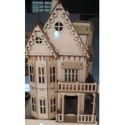 Casa Casinha Castelo Gótico Mdf Bonecas Polly Barbie Pocket
