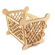 Cesto Decorativo com Arabesco Provençal em MDF 3mm - Yper Criativo