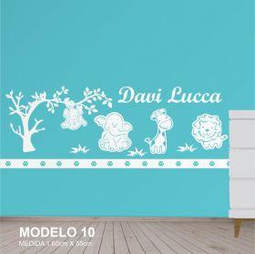 Painel Decorativo para Quarto Infantil Floresta Animais Safari MDF Yper Criativo