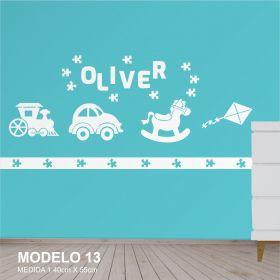 Painel Decorativo para Quarto Infantil Menino Brinquedos MDF Yper Criativo