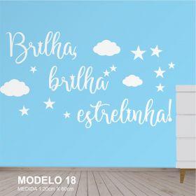 Painel Decorativo para Quarto Infantil MDF - Brilha Brilha Estrelinha - Yper Criativo