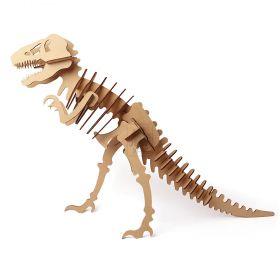 Dinossauro Tiranossauro Rex em MDF 3mm T-REX Quebra Cabeça 3d - Yper Criativo